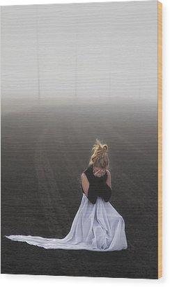 And Tears Shall Drown The Wind Wood Print by Evelina Kremsdorf