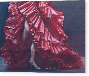 Andalucia Flamenco Wood Print