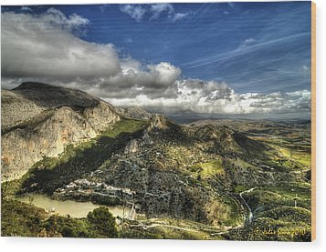 Wood Print featuring the photograph Andalusia - Mountain View by Julis Simo