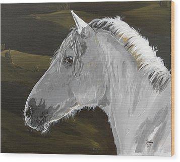 Andalusian Foal Wood Print by Janina  Suuronen