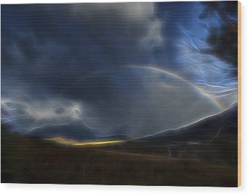 Wood Print featuring the digital art Andean Rainbow by William Horden