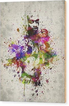 Anderson Silva Wood Print by Aged Pixel