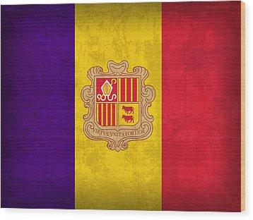 Andorra Flag Vintage Distressed Finish Wood Print by Design Turnpike