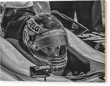 Andretti Driver Wood Print by Kevin Cable