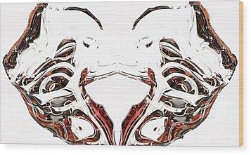 Wood Print featuring the digital art Androidinous by Richard Thomas