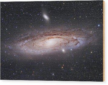 Andromeda Galaxy Wood Print by Alex Conu