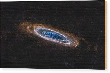 Andromeda Galaxy Wood Print by Movie Poster Prints