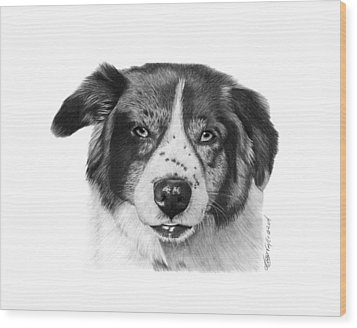 Wood Print featuring the photograph Andy - 032 by Abbey Noelle