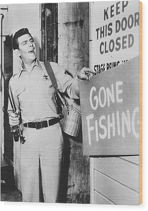 Andy Griffith In The Andy Griffith Show Wood Print