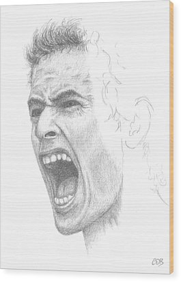 Andy Murray Sketch Wood Print by Conor O'Brien