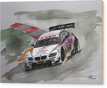 Andy Priaulx Bmw Dtm Wood Print by Roger Lighterness