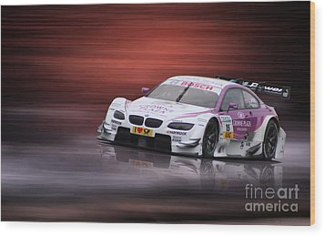 Andy Priaulx M3 Dtm 2012 Wood Print by Roger Lighterness
