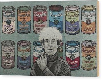 Andy Warhol Wood Print by Heidi Hooper