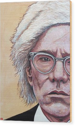 Andy Warhol Wood Print by Tom Roderick