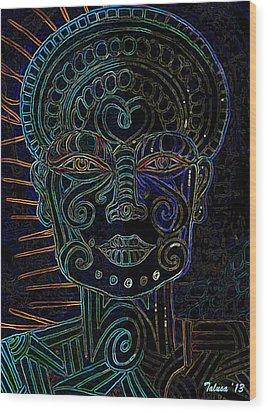 Anencephaly Angel Wood Print by Teleita Alusa