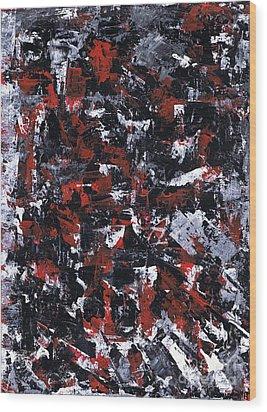 Aneurysm 1 - Right Wood Print by Kamil Swiatek