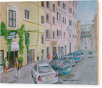 Anfiteatro Hotel Rome Italy Wood Print by Frank Hunter
