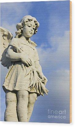 Angel 2 Wood Print by Sophie Vigneault