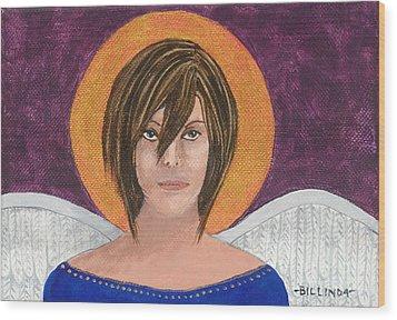 Angel 3 Wood Print