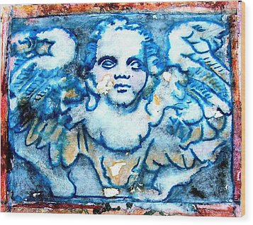 Angel 6 Wood Print by Maria Huntley