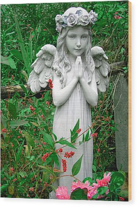 Wood Print featuring the photograph Angel by Aimee L Maher Photography and Art Visit ALMGallerydotcom