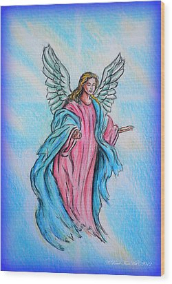 Angel Wood Print by Andrew Read