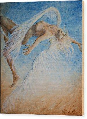 Angel Blu Drifter Wood Print by Nik Helbig