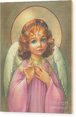 Angel Child Wood Print by Zorina Baldescu