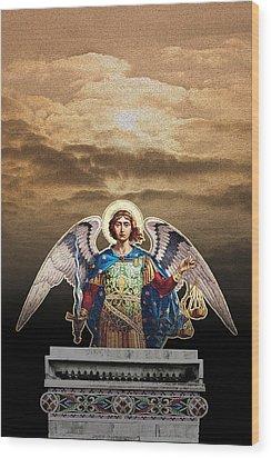 Angel Wood Print by David Davies