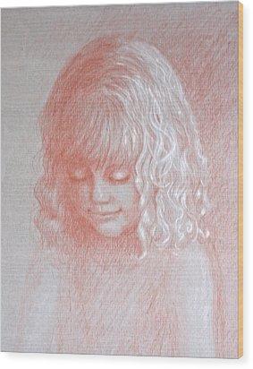 Angel Wood Print by Deborah Dendler