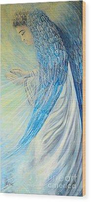 Angel Divine Wood Print by Caroline Street