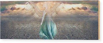 Angel Dream Wood Print by Li   van Saathoff