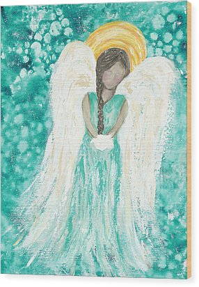 Angel Dreams Wood Print