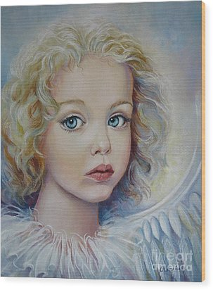 Angel Wood Print