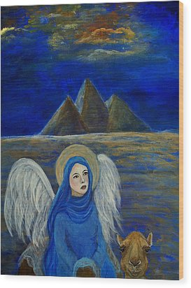 Angel From Eygpt Called Lapis Lazueli Wood Print by The Art With A Heart By Charlotte Phillips