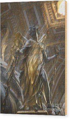 Angel In Motion Wood Print