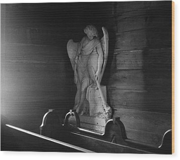 Angel In My Corner Wood Print