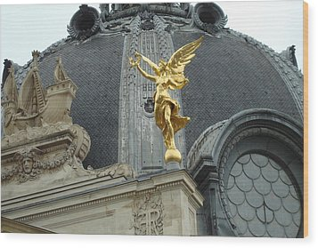 Wood Print featuring the photograph Angel In Paris by Kay Gilley