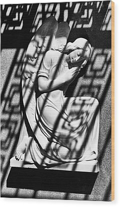 Angel In The Shadows 2 Wood Print by Swank Photography