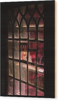 Angel In The Window Wood Print by Tommytechno Sweden