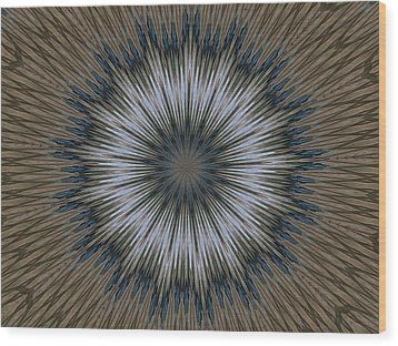 Angel Kaleidoscope Two Wood Print