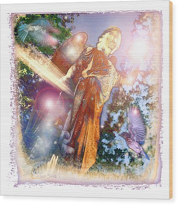 Wood Print featuring the photograph Angel Light by Marie Hicks