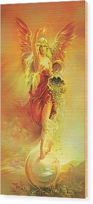Angel Of Abundance - Fortuna Wood Print