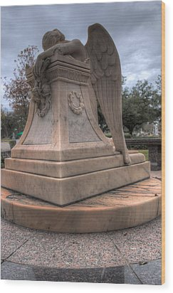 Angel Of Grief Houston 1 Wood Print