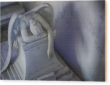 Angel Of Grief New Orleans 4 Wood Print