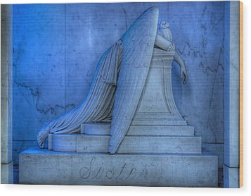 Angel Of Grief New Orleans 5 Wood Print