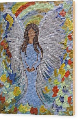Angel Of Devotion Wood Print by Ella Kaye Dickey