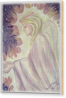 Wood Print featuring the painting Angel Of Mercy by Leanne Seymour