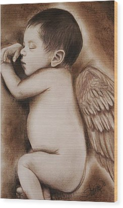 Angel Of My Tears Wood Print by Sheena Pike