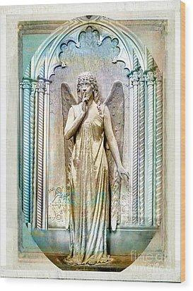 Angel Of Silence.genoa Wood Print by Jennie Breeze